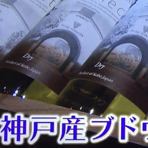 テレビで神戸ワインが放映されました